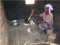 Improved stove -cooking beans