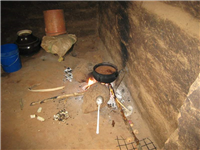 Traditional 3 stone stove