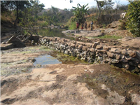 River diversion-abstraction point, Malawi