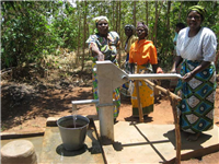 Water-newly installed well & handpump