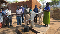 Water-shallow well & handpump, Njombwa Malawi