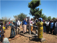 Water-shallow well handing over ceremony Mdzinjo village Malawi